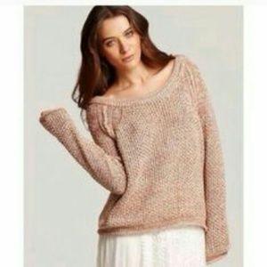 Free people rose knit sweater